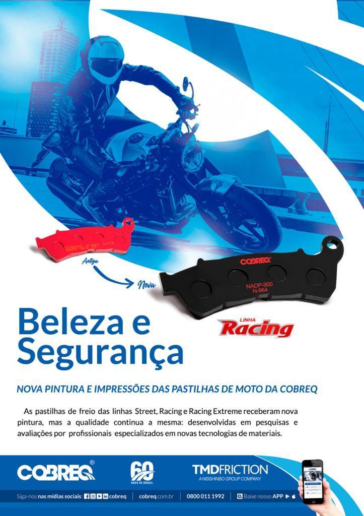 Pastilha Traseira Bmw G650/F800Gs/F800r/XT660R  Cobreq Racing N-932