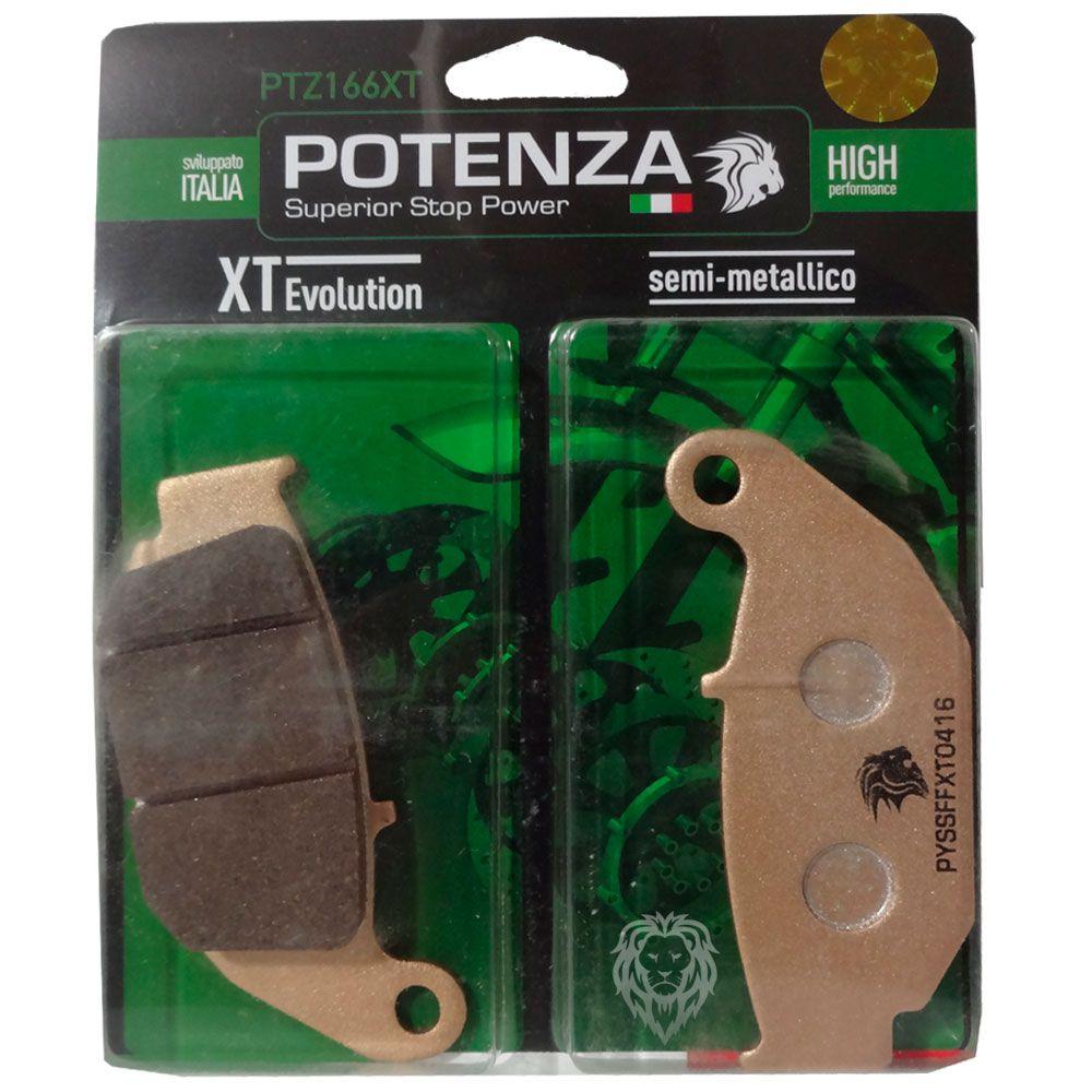 Pastilhas Freio PTZ166XT Nxr 160 Bros/CB 250F Twister Traseira Potenza