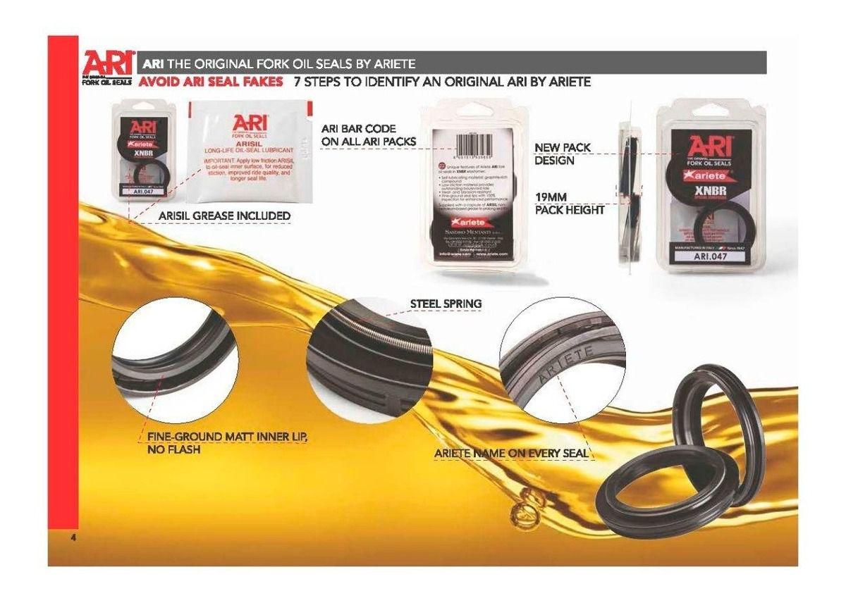 Retentor Bengala Para R1/Versys 1000/VStrom 1000/Bking/GSXS1000 Ariete Par