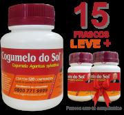 Cogumelo do Sol®  Agaricus sylvaticus - 15 FRASCOS  - Ganhe 2 Frascos com 60 comprimidos
