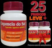Cogumelo do Sol®  Agaricus sylvaticus - 25 FRASCOS  - Ganhe 2 Frascos com 60 comprimidos