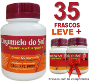 Cogumelo do Sol®  Agaricus sylvaticus - 35 FRASCOS  - Ganhe 2 Frascos com 60 comprimidos