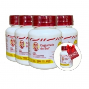 Kit 04 Frascos Cogumelo do Sol® -  Ganhe 01 Frasco c/ 120 comprimidos
