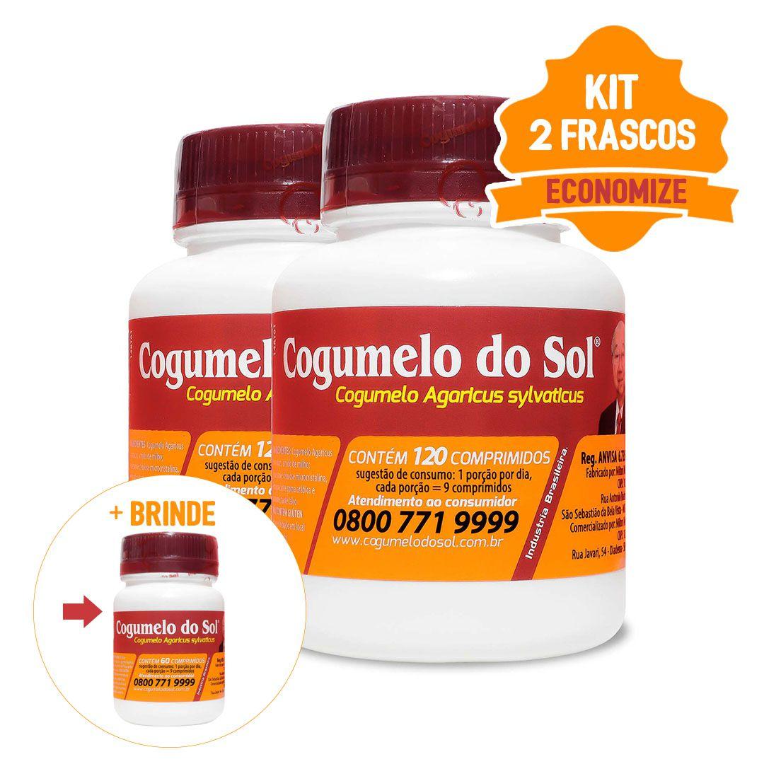 Cogumelo do Sol®  -  02 Frascos com 120 comprimidos