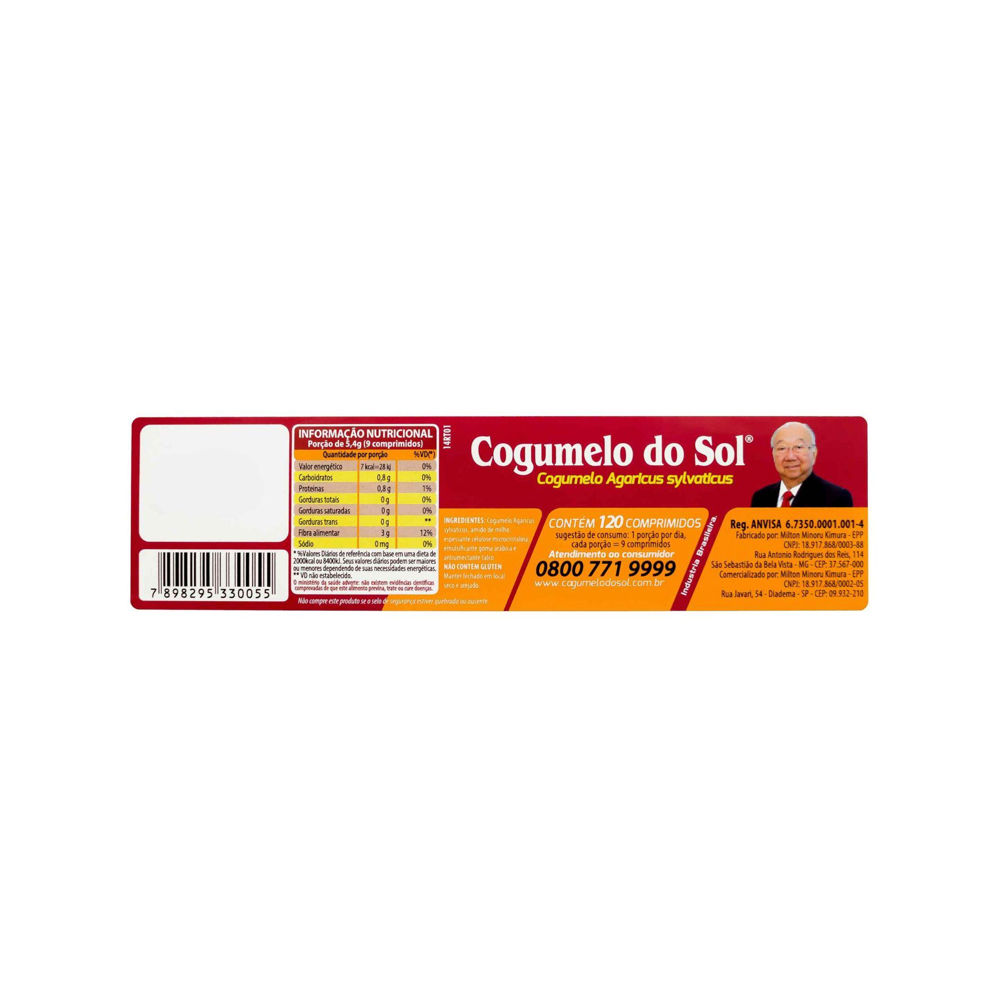 Cogumelo do Sol® - 01 Frasco com 120 comprimidos