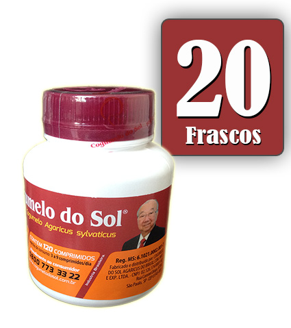 Cogumelo do Sol®  Agaricus sylvaticus - 20 FRASCOS