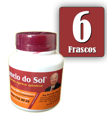 Cogumelo do Sol®  Agaricus sylvaticus - 06 FRASCOS
