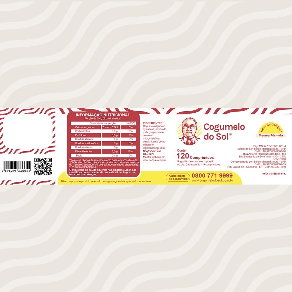 Kit 03 Frascos Cogumelo do Sol® - Ganhe + 01 Frasco com 120 comprimidos