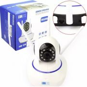 Camera Hd Ip Sem Fio Wifi 3 Antenas Sensor Alarme Luatek LKW 1510