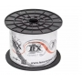 CABO COAXIAL 500MT BIPOLAR 4MM 2x26 AWG-75 OHMS-80% MALHA CONNECT CABOS