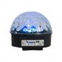 CAIXA DE SOM GLOBO MAGICO LED CRISTAL BLUETOOTH 6 LEDS 30W XCELL