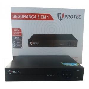 DVR 8 CANAIS H265 FULLHD 5 IN 1 XMEYE JLDVR6008A JL PROTEC
