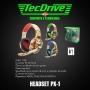 FONE HEADSET GAMER PX-1 LED TECHDRIVE