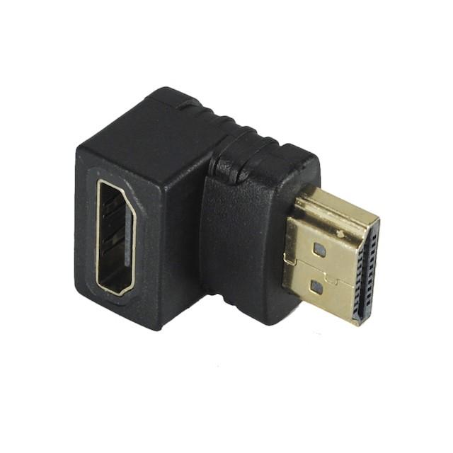 ADAPTADOR HDMI FÊMEA X HDMI MACHO 90°