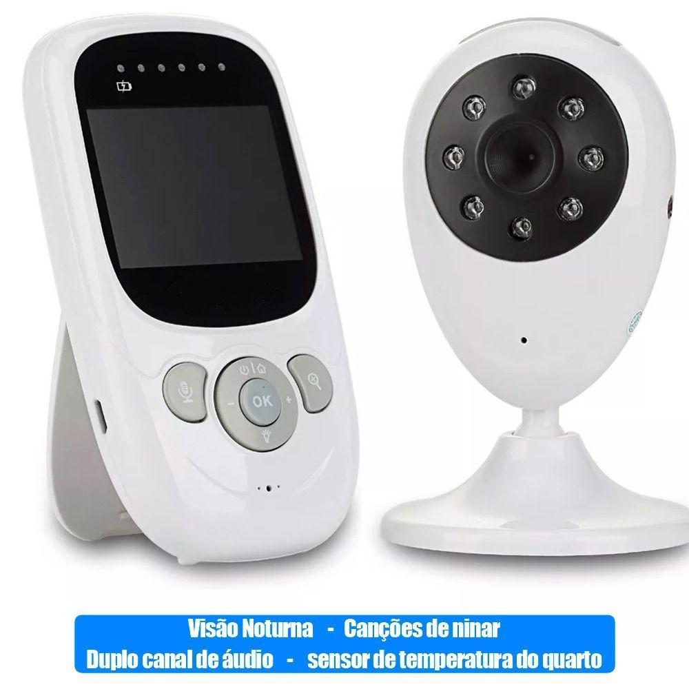 Babá Eletrônica Vídeo Câmera E Monitor Visão Noturna Luatek  - Wtech vendas e Assistência técnica