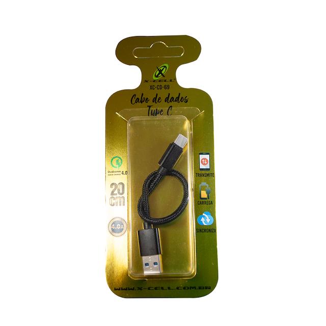 CABO 20CM CORDA TIPO C TURBO USB 4.0A XC-CD-69 XCELL