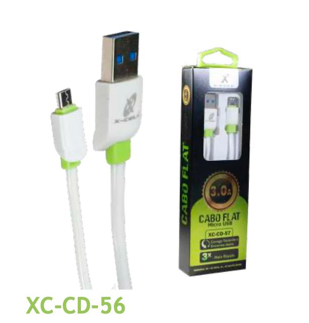 CABO FLAT V8 TURBO USB 3.0A 1 METRO XC-CD-56 XCELL