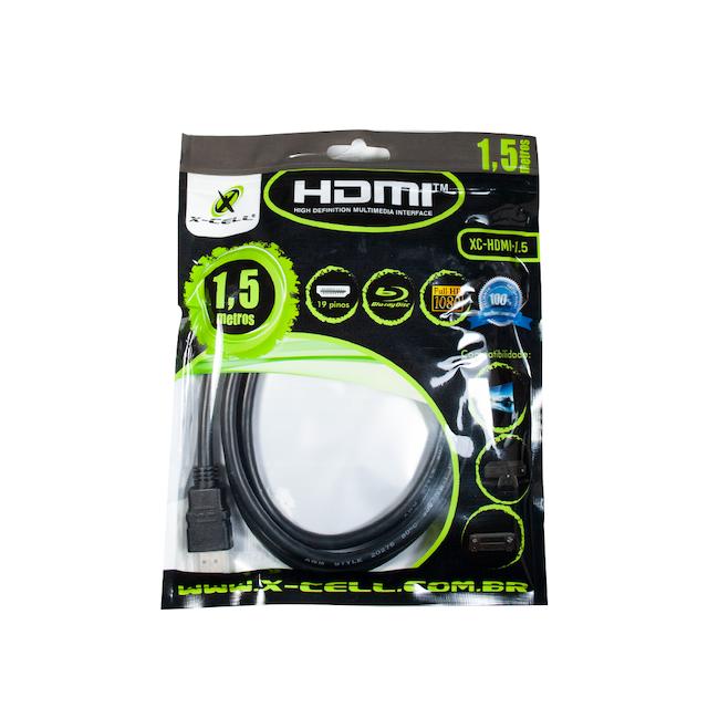 CABO HDMI 1,5 METROS XCELL