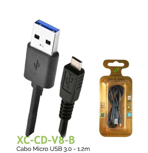 CABO V8 TURBO USB 3.0A 1.2m XC-CD-V8-B XCELL
