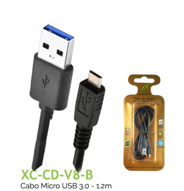 CABO V8 TURBO USB 3.0A 1.2m XC-CD-V8-B XCELL