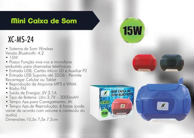 CAIXA DE SOM BLUETOOTH BATERIA 15W XC-MS-24 XCELL