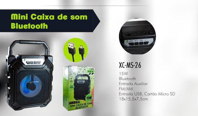 CAIXA DE SOM BLUETOOTH BATERIA 15W XC-MS-26 XCELL