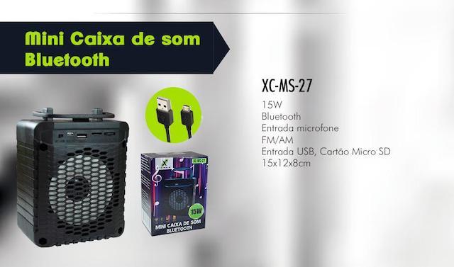 CAIXA DE SOM BLUETOOTH BATERIA 15W XC-MS-27 XCELL