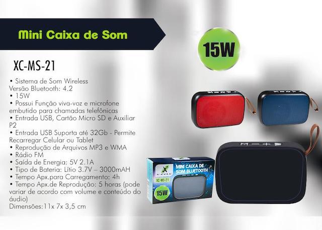 CAIXA DE SOM BLUETOOTH BATERIA 15W XCELL