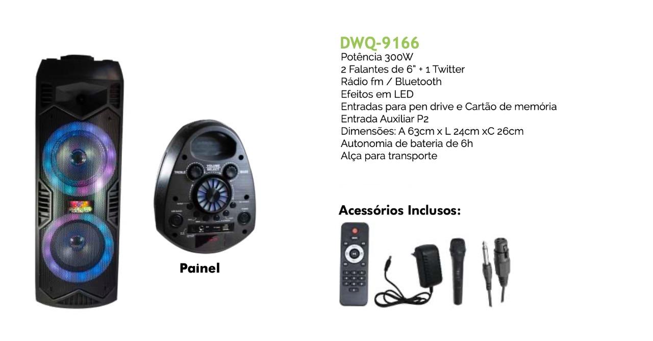 CAIXA DE SOM BLUETOOTH C/ MICROFONE BATERIA APLIFICADA 300W