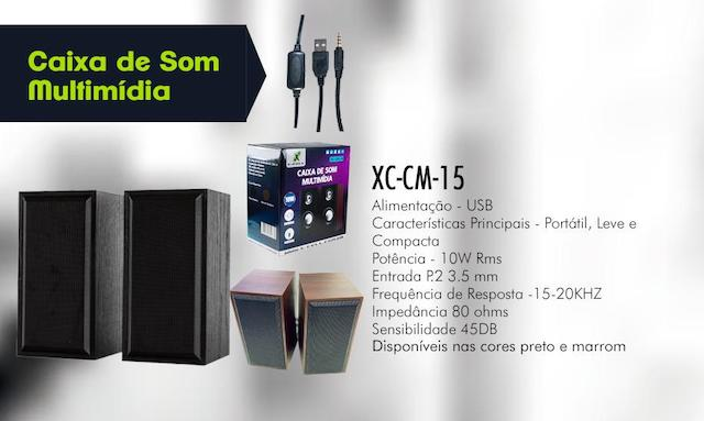 CAIXA DE SOM MULTIMIDIA 10W XC-CM-15 XCELL