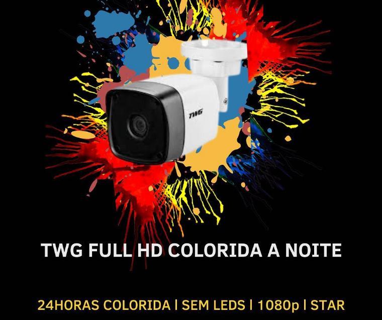 CÂMERA BULLET COLORIDA A NOITE 4X1 2MP 1/3 3,6MM 7307 TWG