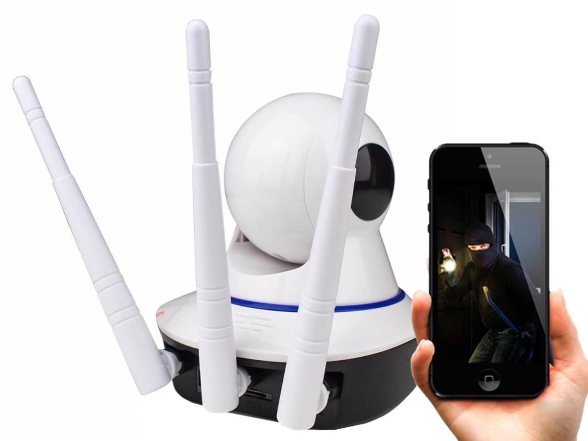 Câmera HD Wi-FI com áudio e rotação 355 graus 3 Antenas LKW-1310 Luatek  - Wtech vendas e Assistência técnica