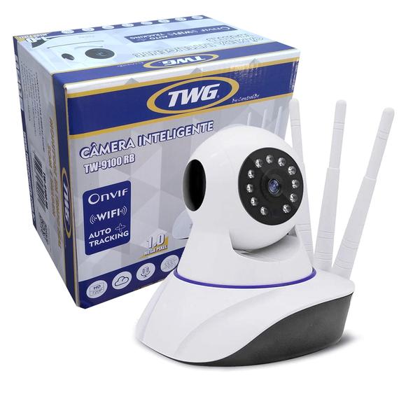 CÂMERA ROBO 3 ANTENAS IP WIFI ONVIF TW9100 TWG