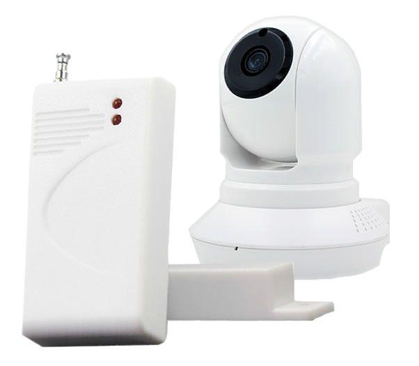 Camera Wi-fi HD Com Alarme de porta e Detector de Movimentos Sunchan