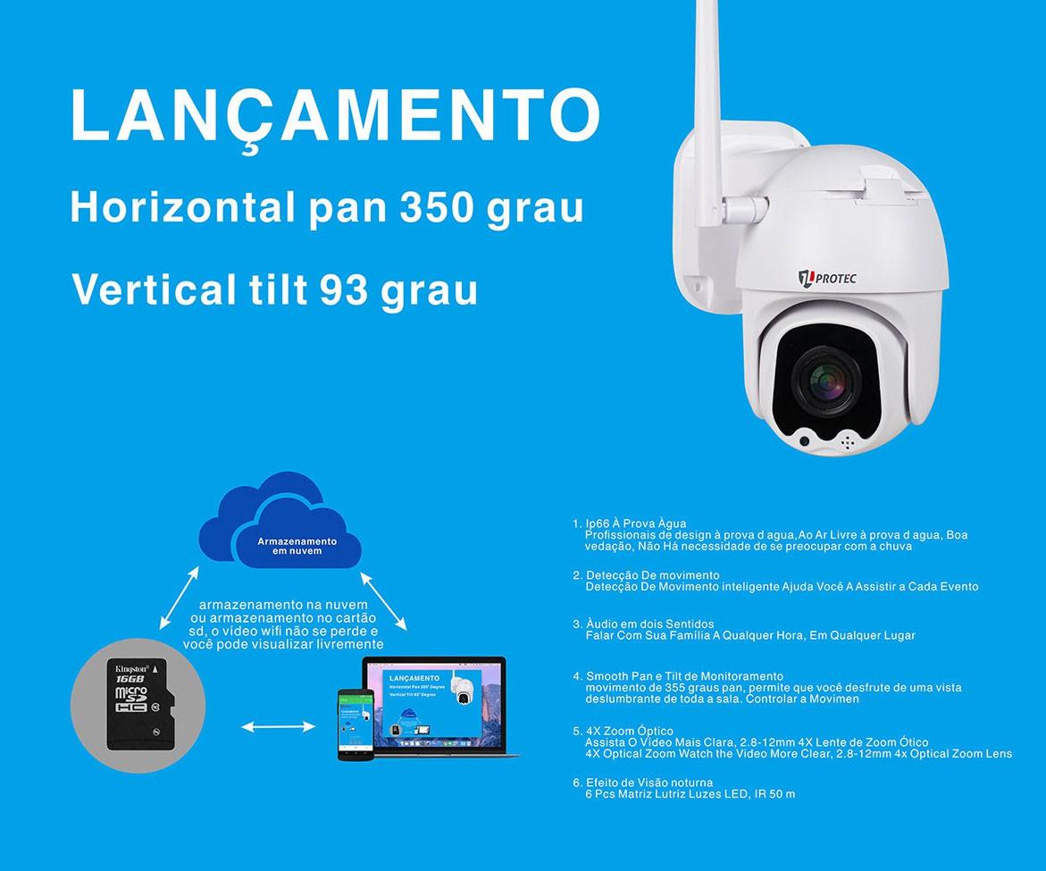 CAMERA WIFI EXTERNA 1080P 4X ZOOM OPTICO