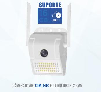 CAMERA WIFI REFLETOR LED EXTERNA / INTERNA LUATEK