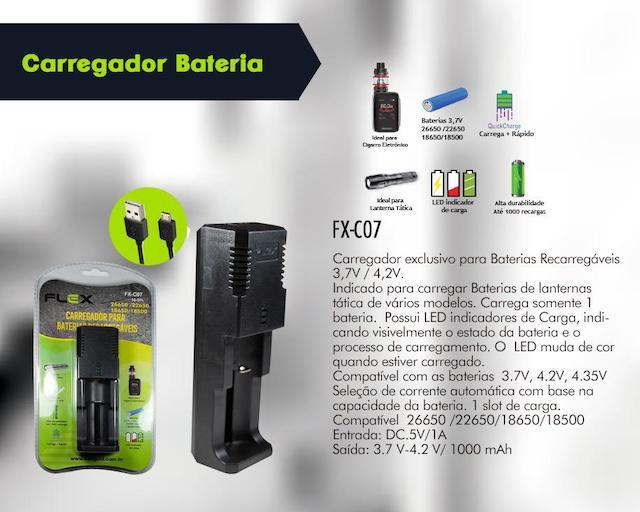 CARREGADOR BATERIAS LANTERNA, VAPE E OUTROS FX-C07 XCELL
