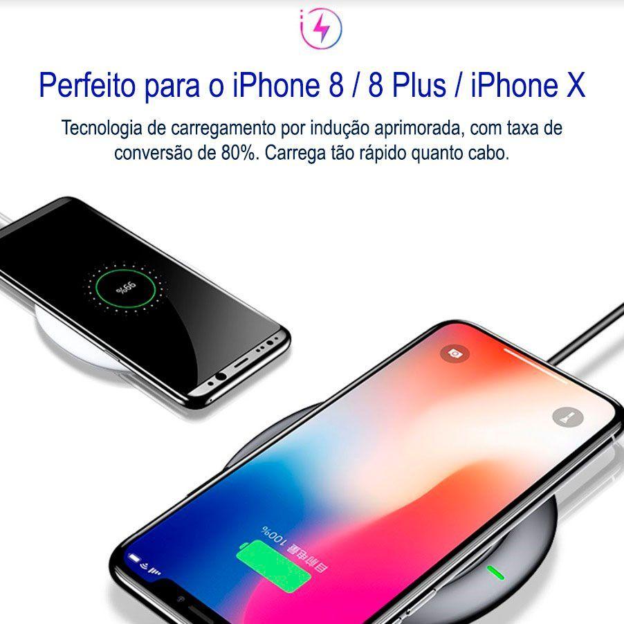 Carregador QI Sem Fio Baseus UFO para Apple iPhone e Samsung Galaxy