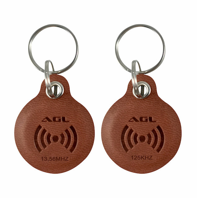 CHAVE TAG COURO DUO - 125KHz /13,56 MHz AGL