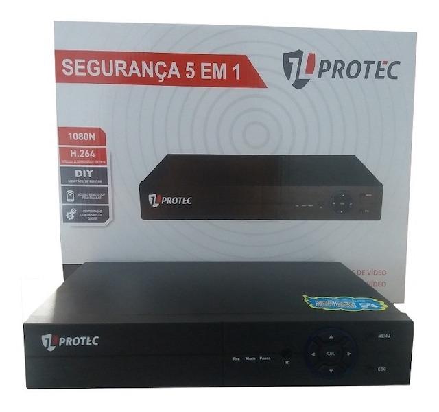 DVR 16 CANAIS FULLHD 5 IN 1 H265 APLICATIVO XMEYE JL PROTEC