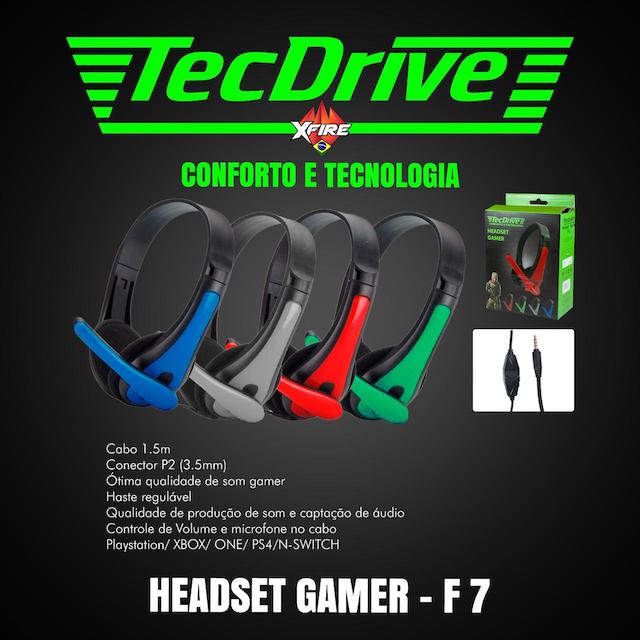 FONE HEADSET GAMER F-7 TECHDRIVE