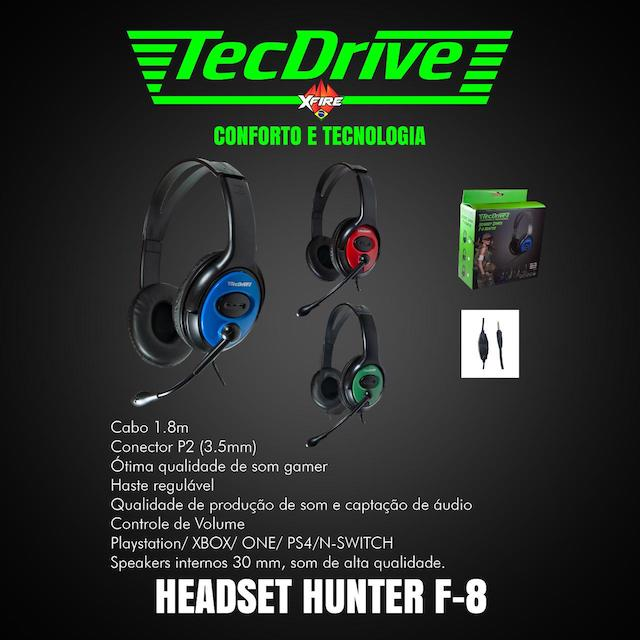 FONE HEADSET GAMER F-8 TECHDRIVE