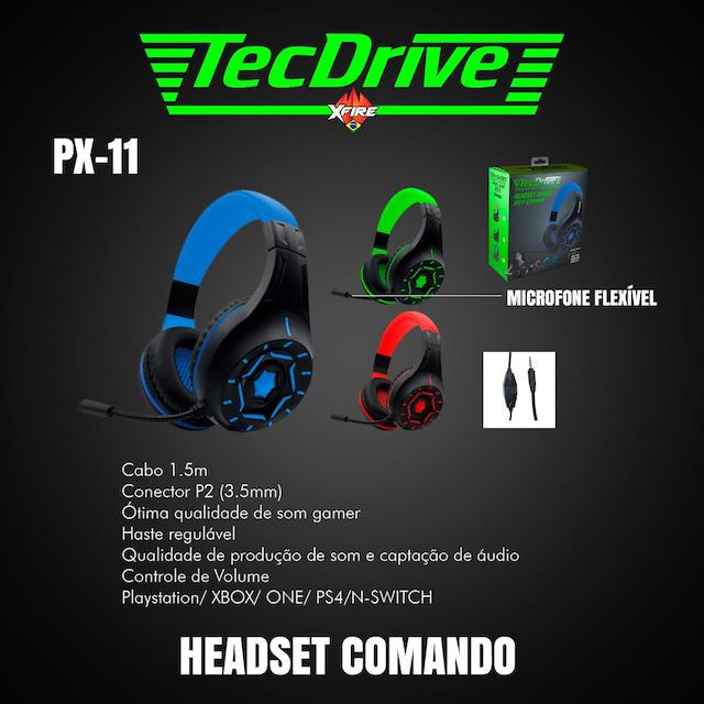 FONE HEADSET GAMER PX-11 LED TECHDRIVE