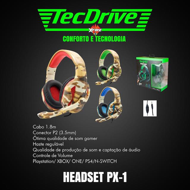 FONE HEADSET GAMER PX-1 LED TECHDRIVE