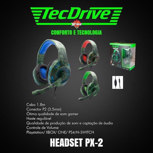 FONE HEADSET GAMER PX-2 LED TECHDRIVE