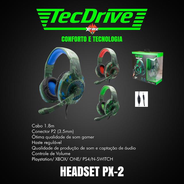FONE HEADSET GAMER PX-2 LED TECHDRIVE