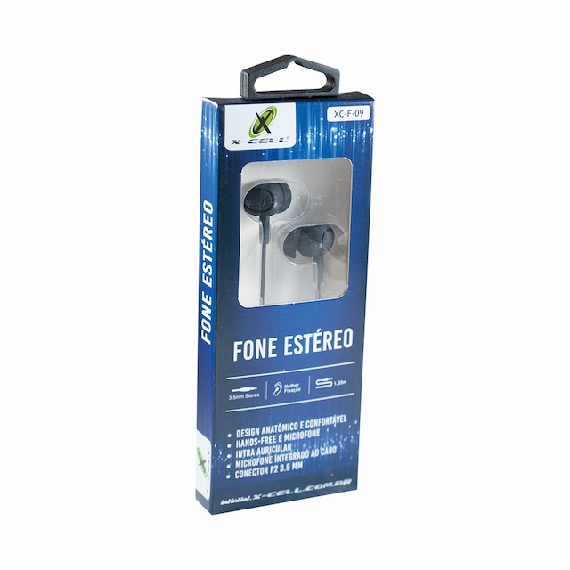 FONE OUVIDO P2 INTRA-AURICULAR EXTRA BASS XCELL