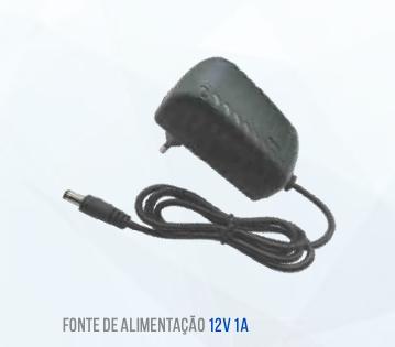 FONTE 12V 1A PRETA LUATEK