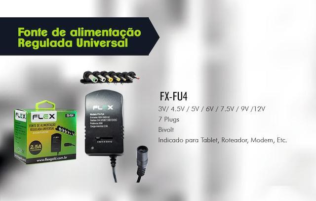 FONTE DE ALIMENTAÇÃO UNIVERSAL 3 A 12V 7 PLUGUES XCELL