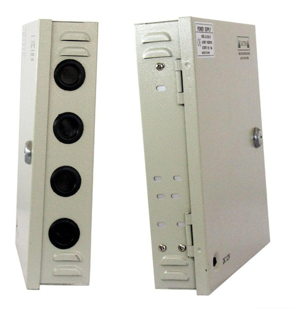 Fonte Estabilizada 12v 10a Rack Organizadora Câmera Cftv Luatek  - Wtech vendas e Assistência técnica